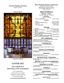 EASTER 2012 - The Cathedral of Saint Mary of the Assumption