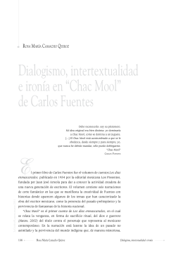 Dialogismo, intertextualidad e ironía en Chac Mool de Carlos Fuentes