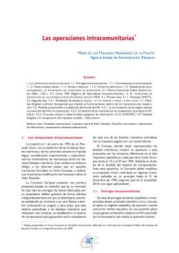 Las operaciones intracomunitarias*