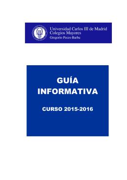 guía informativa - Colegios Mayores UC3M