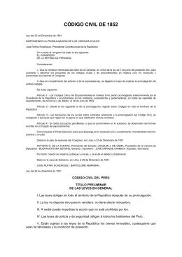CÓDIGO CIVIL DE 1852 - Colegio de Notarios de La Libertad