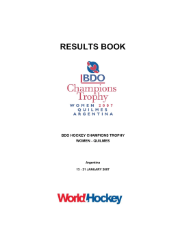RESULTS BOOK