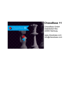 ChessBase 11 - Chess News, Chess Programs, Databases