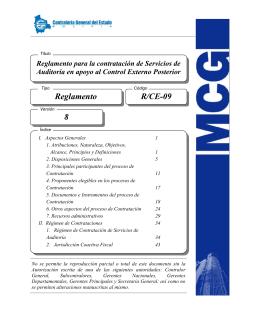 R-CE-09-8 CARATULA - Contraloría General del Estado