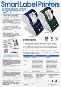La forma rápida y sencilla de imprimir etiquetas de una a una.