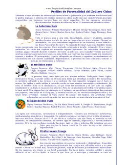Perfiles de Personalidad del Zodiaco Chino