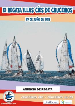 Anuncio Regata Islas Cíes Cruceros Cangas 2013