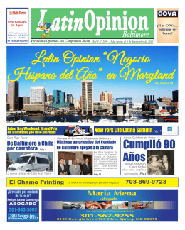 "Latin Opinion ""Negocio Hispano del Año"" en Maryland"