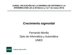 Crecimiento sigmoidal - Epidemiología y Nuevas Tecnologías