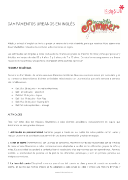 Hoja informativa Sant Joan Despí - Kids&Us