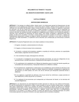 Reglamento de transito y vialidad Monterrey