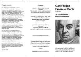 Carl Philipp Emanuel Bach - Conservatorio Superior de Música de