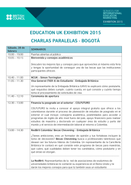 education uk exhibition 2015 charlas paralelas