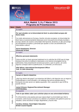 AULA, Madrid 5, 6 y 7 Marzo 2015 Programa de