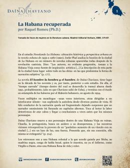 La Habana recuperada
