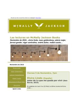 Las lecturas en McNally Jackson Books Elvira Lindo (España)