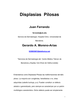 104 Displasias Pilosas