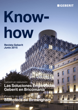 Revista Geberit de junio de 2015