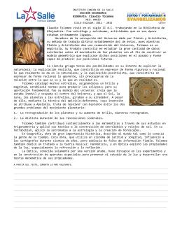 BIOGRAFÍA: Claudio Tolomeo Claudio Tolomeo vivió en el siglo II