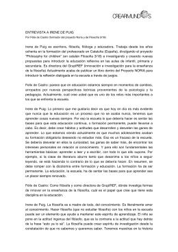 ENTREVISTA A IRENE DE PUIG Irene de Puig es