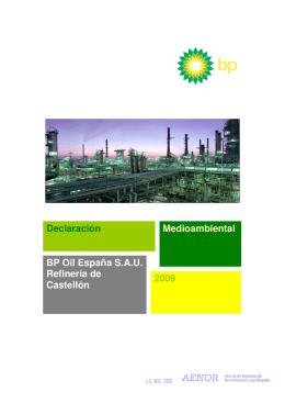 Declaración Medioambiental BP Oil España S.A.U.