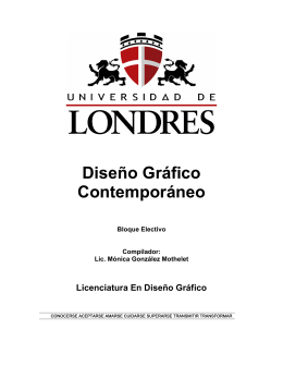 Diseño Gráfico Contemporáneo - Universitaria Virtual Internacional