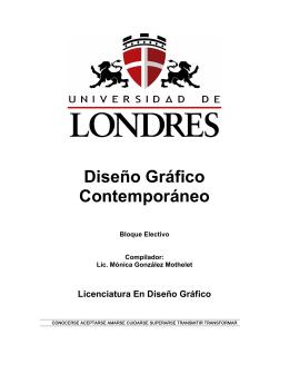 Diseño Gráfico Contemporáneo - Universitaria Virtual Internacional