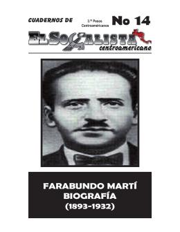 Biografia Farabundo Marti - El Socialista Centroamericano
