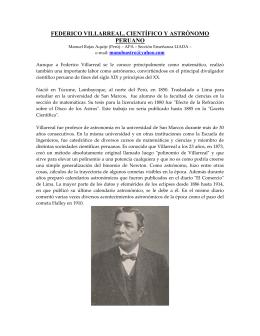 Federico Villarreal, científico y astrónomo peruano