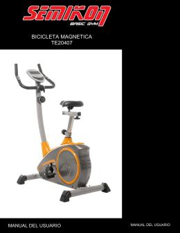 Manual Bicicleta Fija Magnética TE20407
