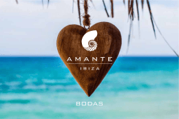 Folleto Bodas 2016 - Amante Beach Club