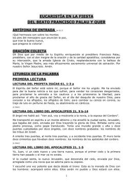 EUCARISTÍA EN LA FIESTA DEL BEATO FRANCISCO PALAU Y