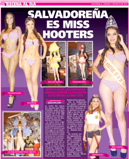 SALVADOREÑA ES MISS HOOTERS