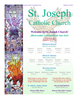 1-877-801-8608 - St. Joseph Catholic Church