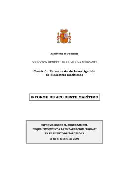 Milenium-Trimar - Ministerio de Fomento