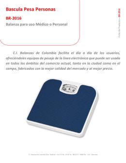 Bascula Pesa Personas - CI Balanzas de Colombia