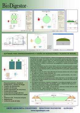 software para dimensionamiento y diseño de biodigestores
