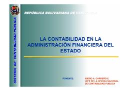 LA CONTABILIDAD EN LA ADMINISTRACIÓN FINANCIERA DEL