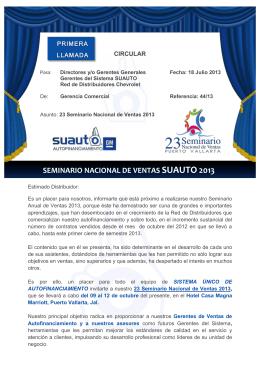 seminario nacional de ventas suauto 2013 - Suauto