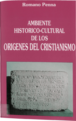 Ambiente histórico-cultural de los orígenes del Cristianismo