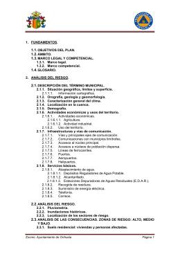 plan de actuacion municipal frente a inundaciones