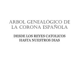 genealogia de reyes de españa en la E.Moderna y Contemporanea
