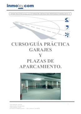 curso/guía práctica garajes y plazas de aparcamiento.
