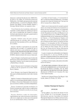Instituto Municipal de Deportes - Ayuntamiento de Las Palmas de