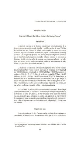 Anorexia Nerviosa Dra. Ana C. Morice*, Dr. Zulema