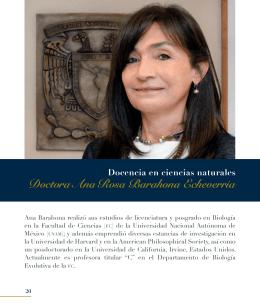 Dra. Ana Rosa Barahona Echeverría - dgapa