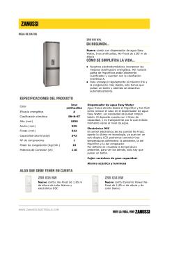 Nuevo combi con dispensador de agua Easy Water, Inox antihuellas