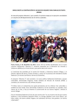 MINVU INICIÓ LA CONSTRUCCIÓN DE 140 NUEVOS HOGARES