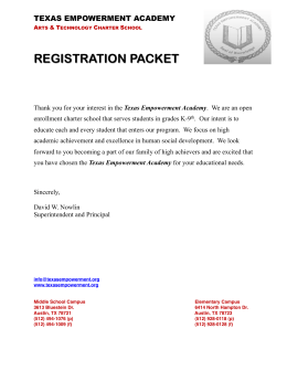 Registration Packet - Texas Empowerment Academy
