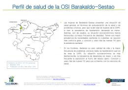 Perfil de salud de la OSI Barakaldo-Sestao